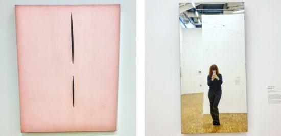 Wernisażeria-Lucio-Fontana-Concetto-spaziale-Attese-T.-104-Heimo-Zobernig-Untitled-lustro