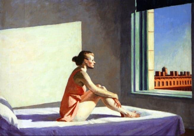 Edward Hopper Morning Sun sztuka w kwarantannie