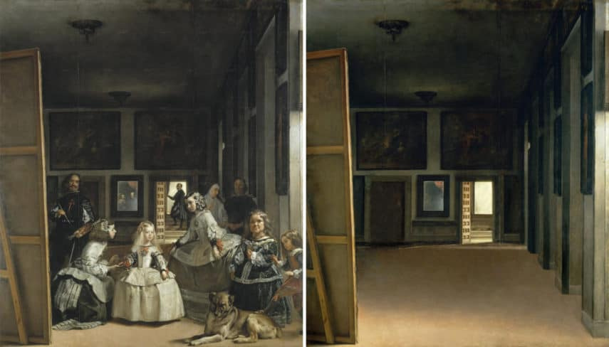 Jose-Manuel-Ballester's-empty-version-of-Las-Meninas-by-Diego-Velázquez.-Courtesy-of-Jose-Manuel-Ballester-sztuka-w-kwarantannie.