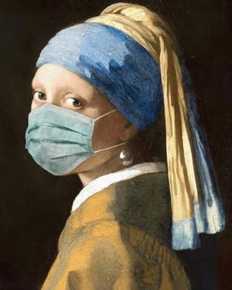 Vermeer Dziewczyna z Perłą designneeds sztuka w kwarantannie