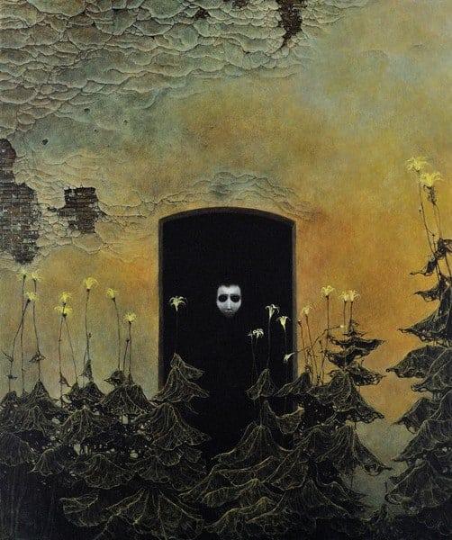Zdzisław Beksiński obraz AF78 sztuka w kwarantannie