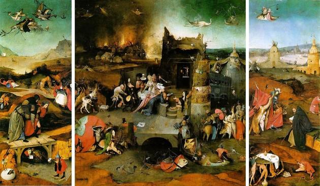 Hieronim-Bosch-Kuszenie-Św.-Antoniego-tryptyk