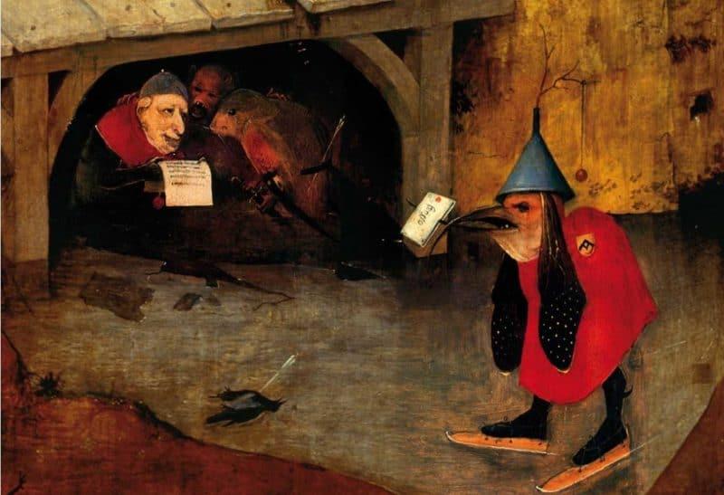 Hieronim-Bosch-Kuszenie-Świętego-Antoniego-posłaniec-i-chór