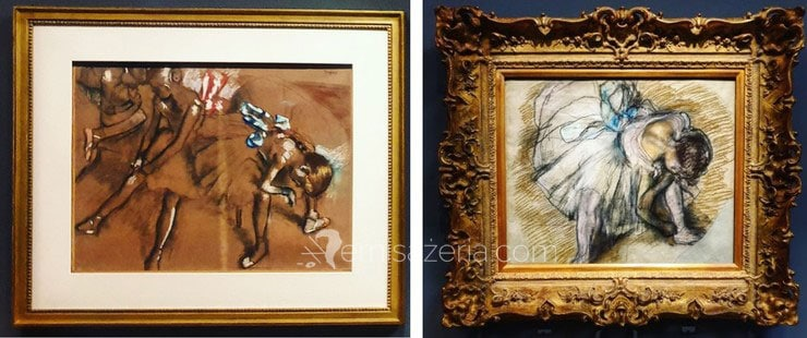 Edward Degas Danseuse ajustant son chausson szkic i obraz