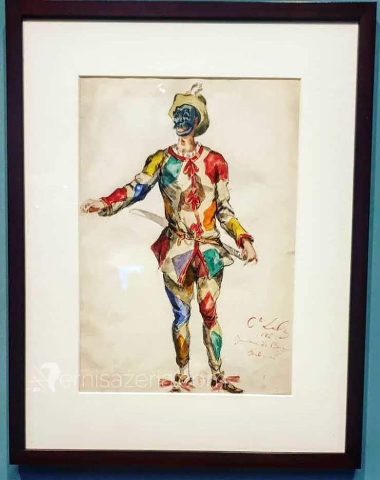 Ludovic Lepic kostium arlekina