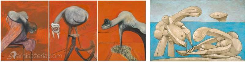 Francis Bacon Three Studies for Figures at the Base of a Crucifixion The Bath Pablo Picasso 2