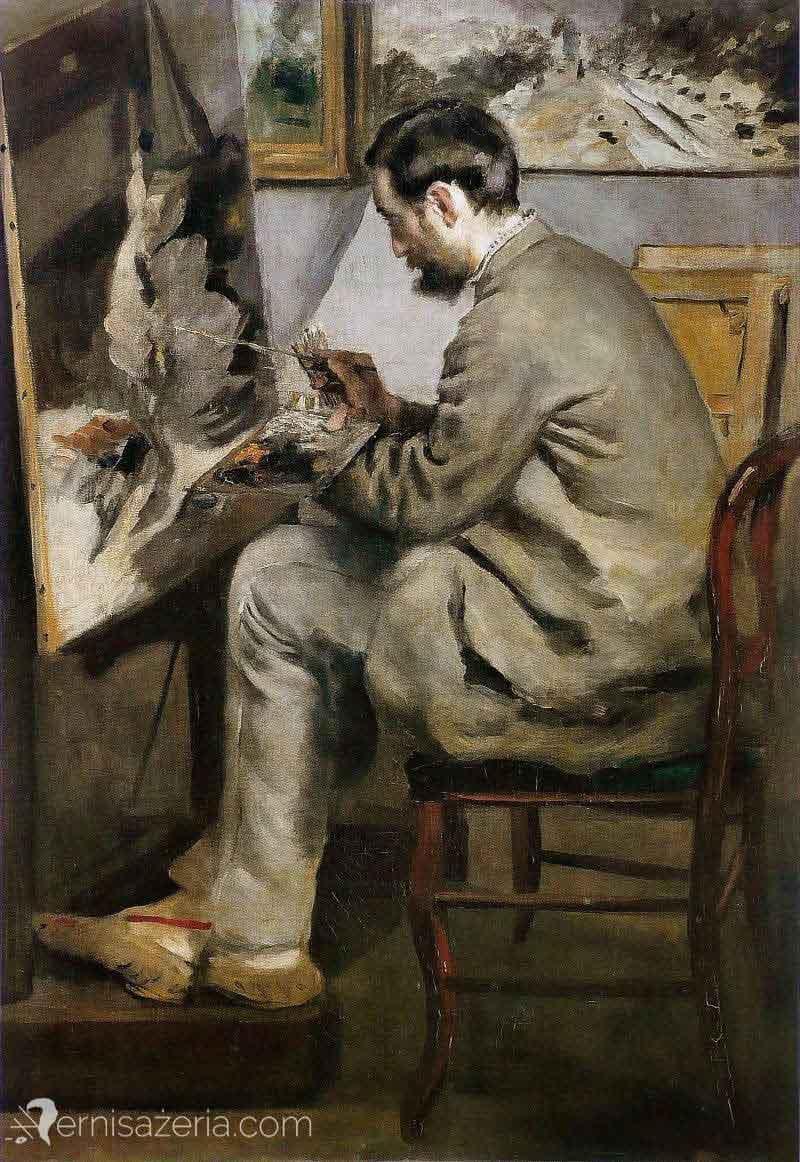 Auguste-Renoir-Frédéric-Bazille-przy-sztalugach-Muzeum-Orsay
