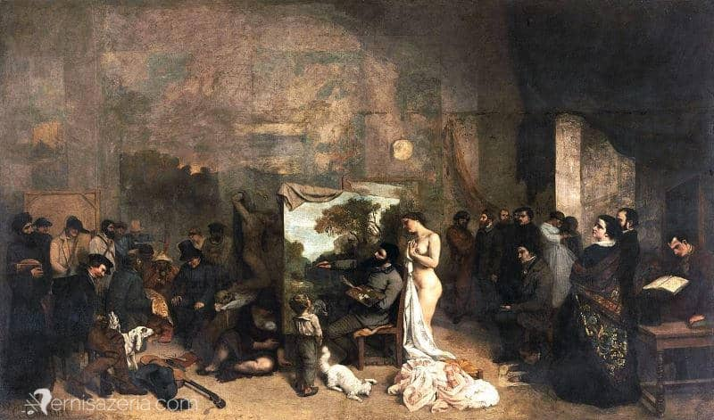 Gustave-Courbet-Pracownia-malarza-Atelier-malarza-Muzeum-Orsay