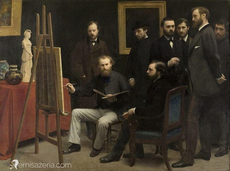 Henri-Fantin-Latou-Atelier-w-Batignolles-Muzeum-Orsay-