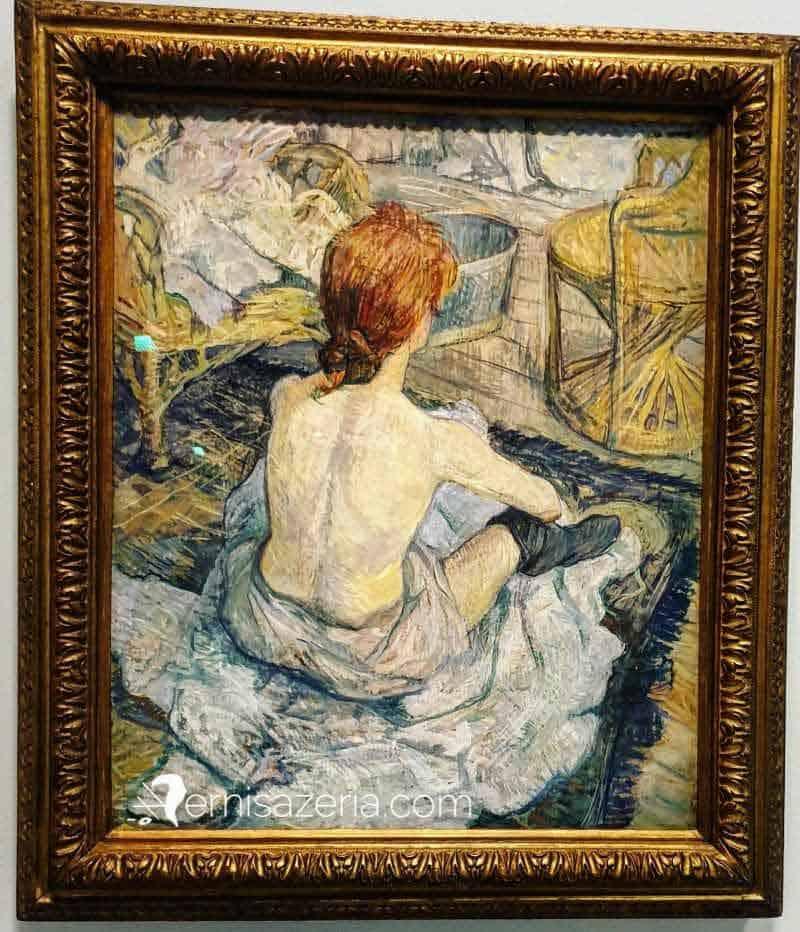 Henri de Toulouse Lautrec Toaleta Rudowłosa Muzeum Orsay