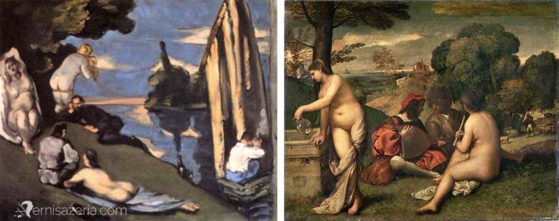 Paul-Cezanne-Idylla-Tycjan-Koncert-wiejski-Muzeum-Orsay