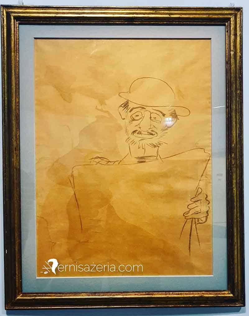 Henri-de-Toulouse-Lautrec-Autoportrait-du-peintre-lisant-son-journal-au-dos-de-l'affiche-Le-Divan-Japonais.