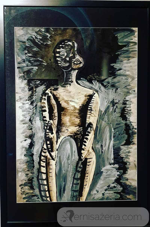 Marek-Oberlander-Figura-1960-wystawa-Marek-Oberlander-i-Jan-Lebenstein.-Totemiczny-znak-figury-ludzkiej.