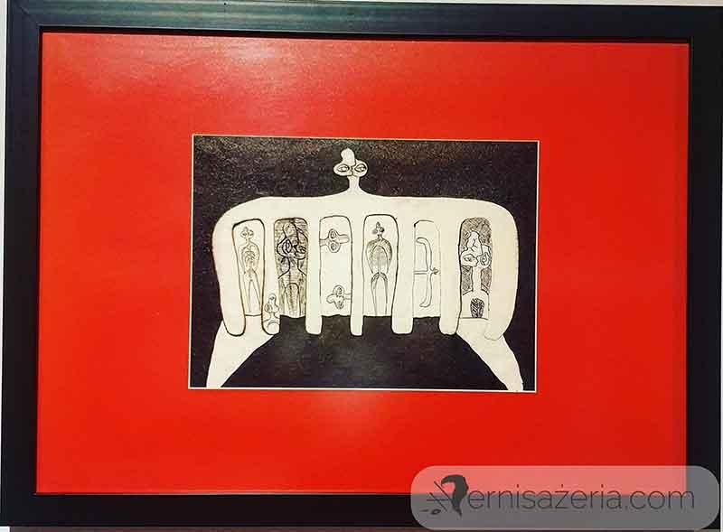 Marek-Oberlander-Figura-34-1962-wystawa-Marek-Oberlander-i-Jan-Lebenstein.-Totemiczny-znak-figury-ludzkiej
