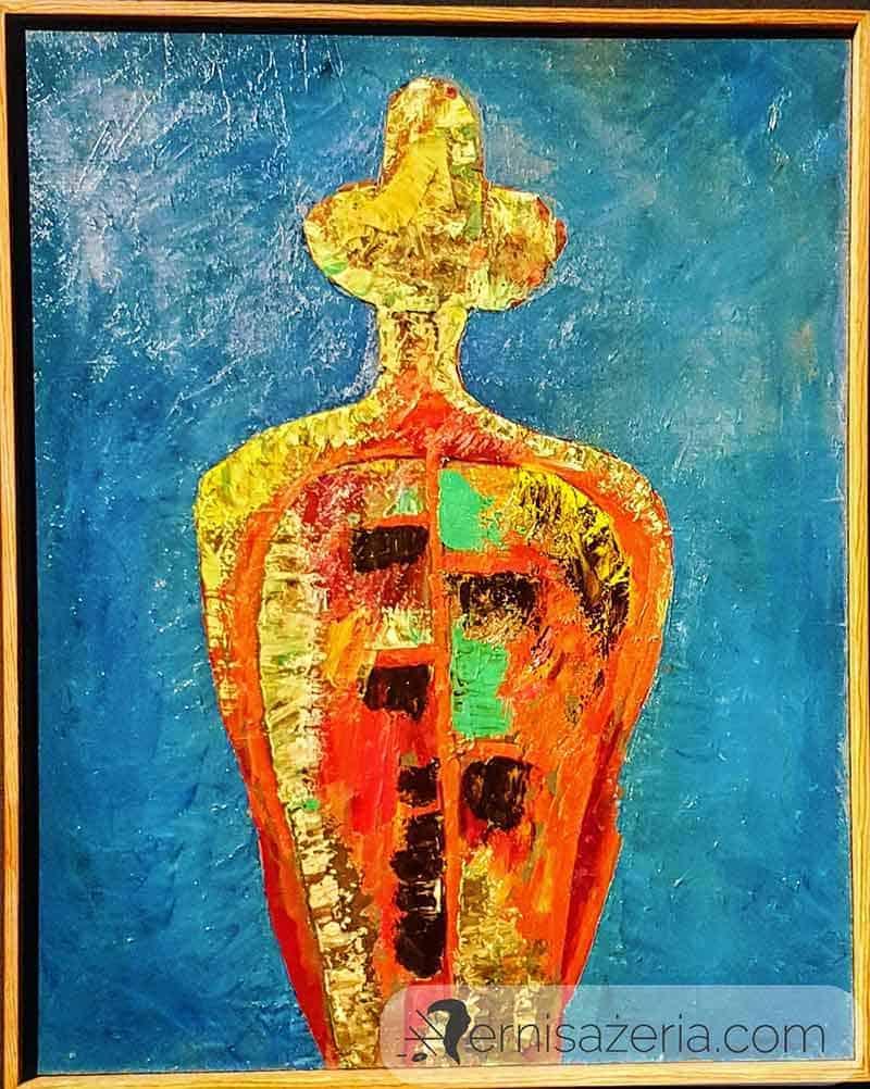 Marek-Oberlander-Sylwetka-czerwona-1961-wystawa-Marek-Oberlander-i-Jan-Lebenstein.-Totemiczny-znak-figury-ludzkiej