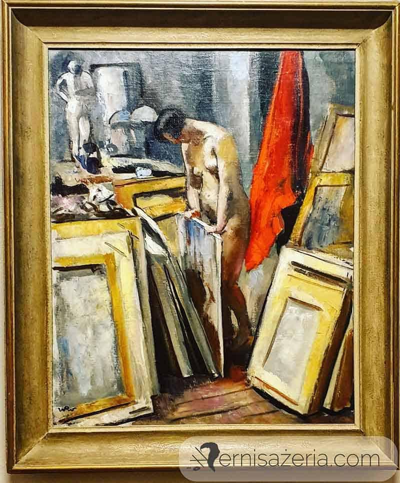 Wojciech-Weiss-Modelka-w-pracowni-1923-Jacek-Malczewski-Muzeum-Narodowe-we-Wroclawiu