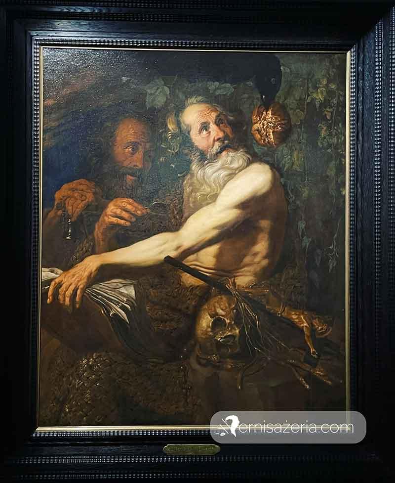 Jodocus van Hamme Spotkanie swietego Pawla ze swietym Antonim
