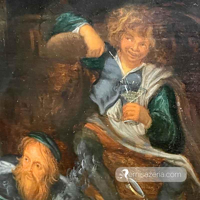Simon de Vos Bachanalia w grocie detal 11